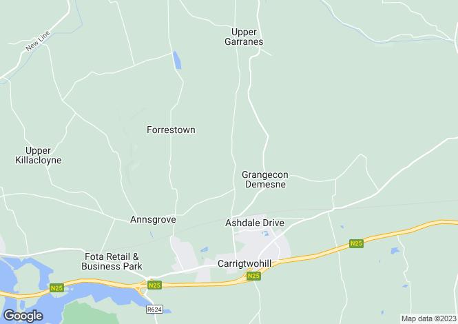 Map for Fahydorgan, Carrigtwohill, Co Cork