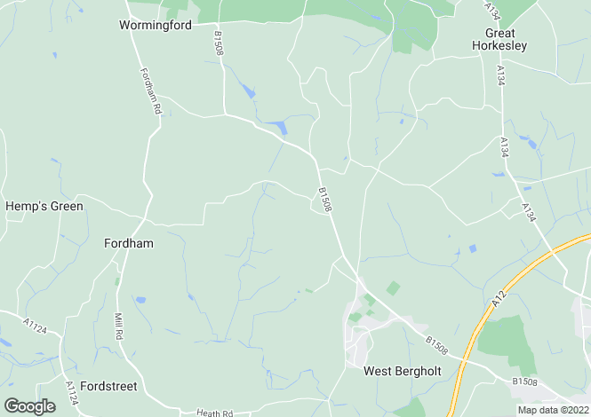 Map for West Bergholt, Nr Colchester, Essex