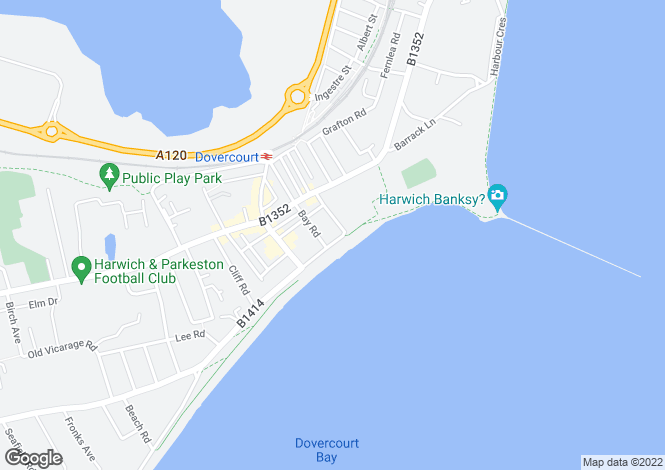 Map for Marine Parade, Dovercourt