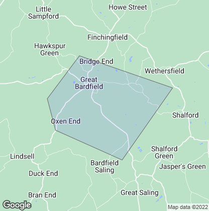 Map of property in Great Bardfield
