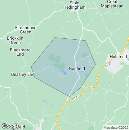 Map of property in Gosfield
