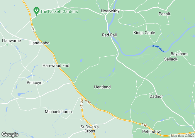 Map for Hentland, Ross-on-Wye, Herefordshire, HR9