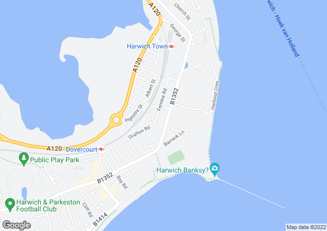 Map for Main Road, Harwich