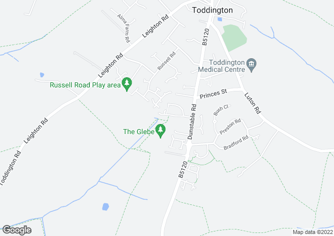 Map for Willow Way, Toddington, Beds, LU5