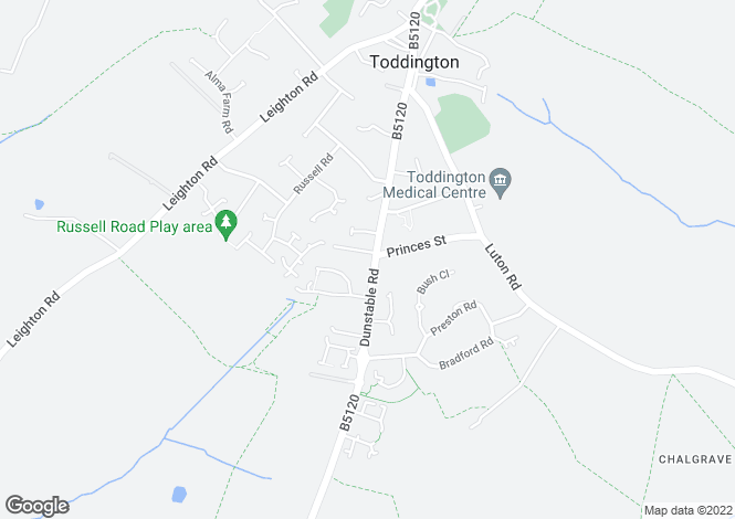 Map for Dunstable Road, Toddington, LU5