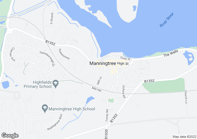 Map for Central Manningtree,
