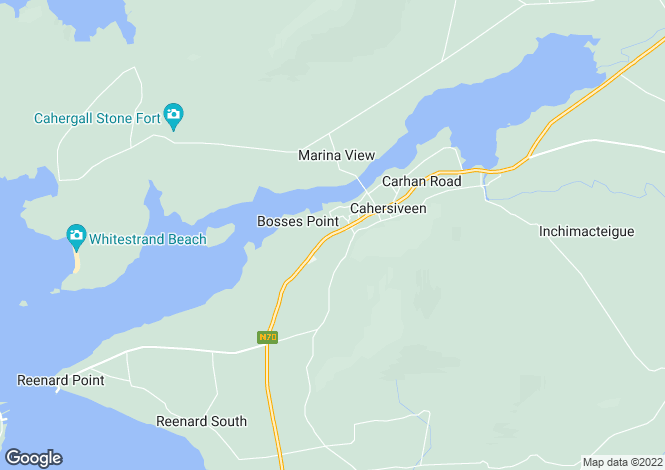 Map for Cahirciveen, Kerry