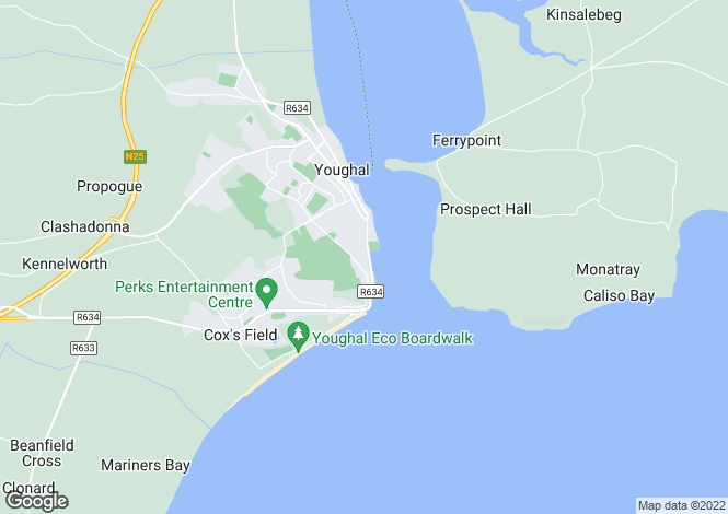 Map for Youghal, Cork