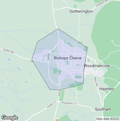 Map of property in Bishops Cleeve