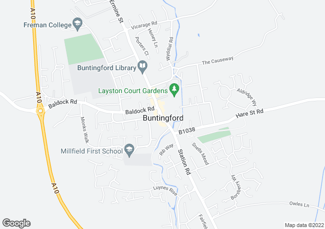 Map for High Street, Buntingford