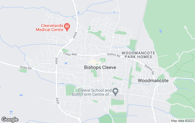 Map for Cleeve Residential Lettings, Cheltenham