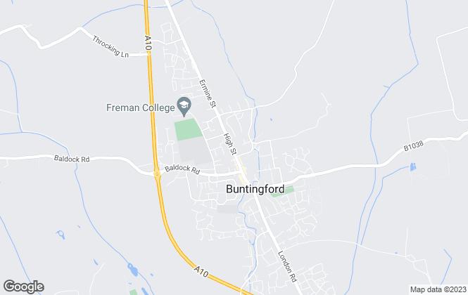 Map for Chris Dellar Properties, Buntingford