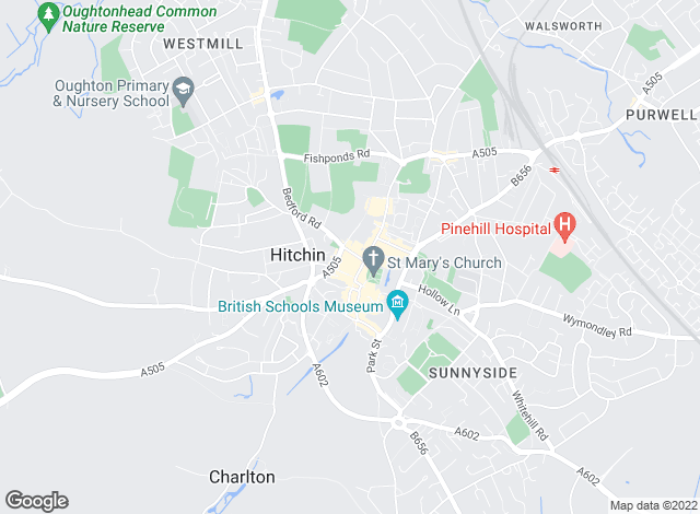 Map for Stonegate Estates, Hitchin Sales