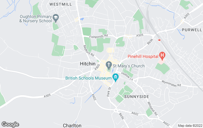 Map for Country Properties, Hitchin