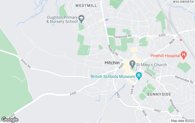 Map for EXP UK, Hitchin