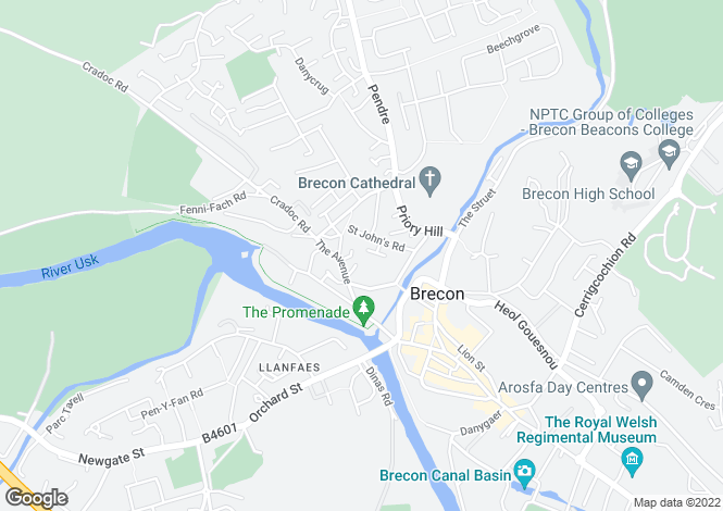 Map for THE AVENUE BRECON