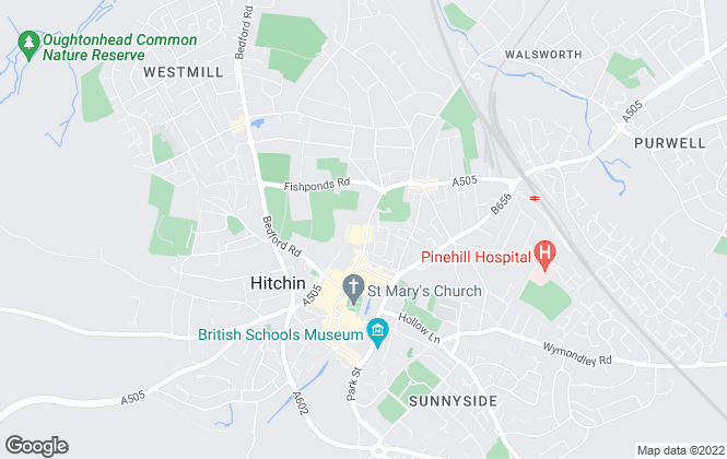 Map for Belvoir, Hitchin