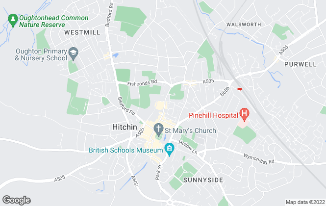 Map for Belvoir, Hitchin Sales