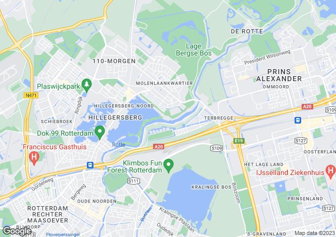 Map for Zuid-Holland, Rotterdam