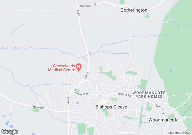 Map for Kentdale at Dean Acre, Evesham Road,
