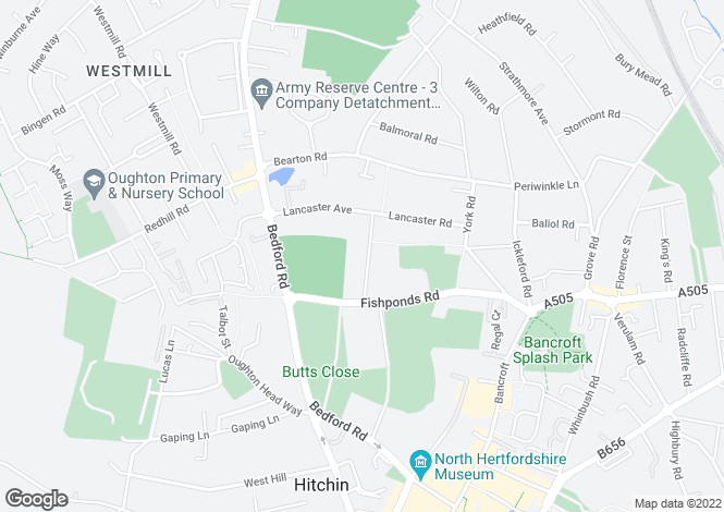 Map for Bearton Avenue, HITCHIN, Hertfordshire