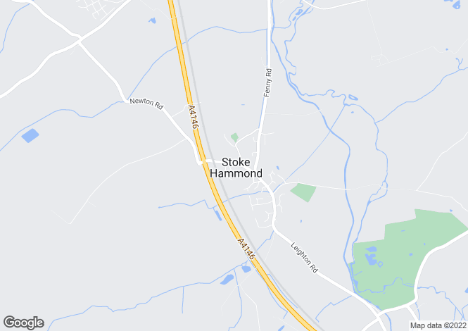 Map for Newton Road, Stoke Hammond, Buckinghamshire, MK17