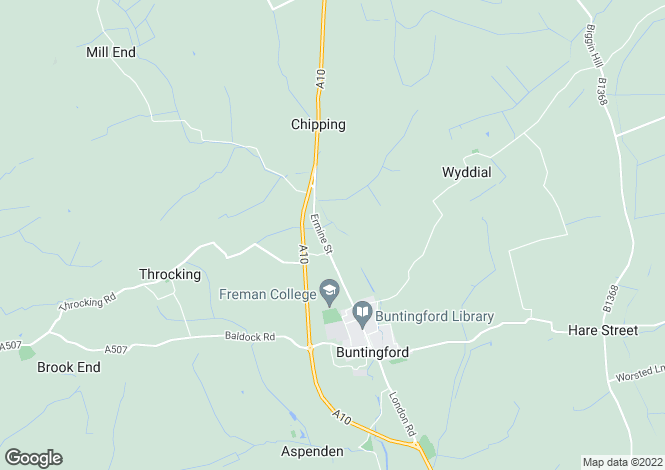 Map for Royston Road, Buntingford, Hertfordshire, SG9 9RS