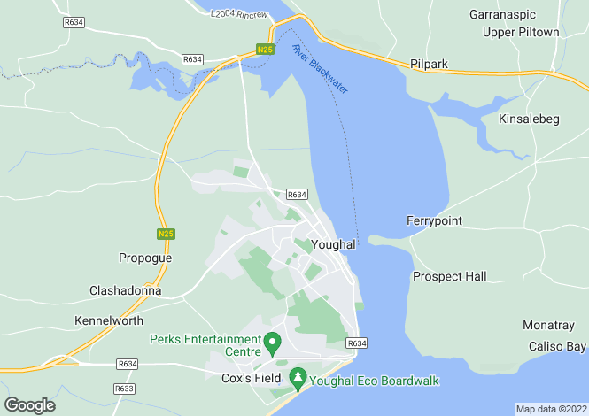 Map for Cork, Youghal