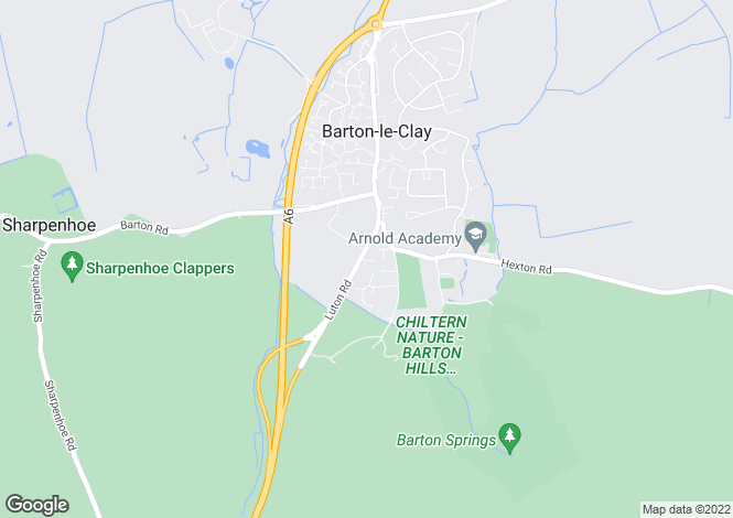 Map for Luton Road, Barton Le Clay