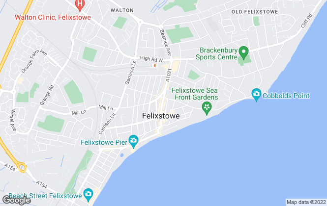 Map for Banham Dark Estates, Felixstowe