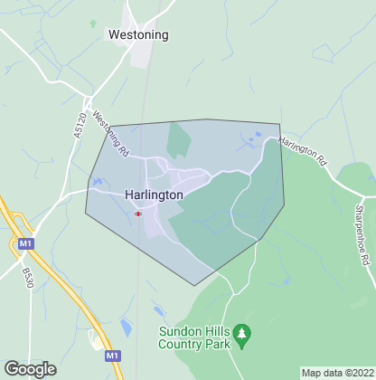 Map of property in Harlington