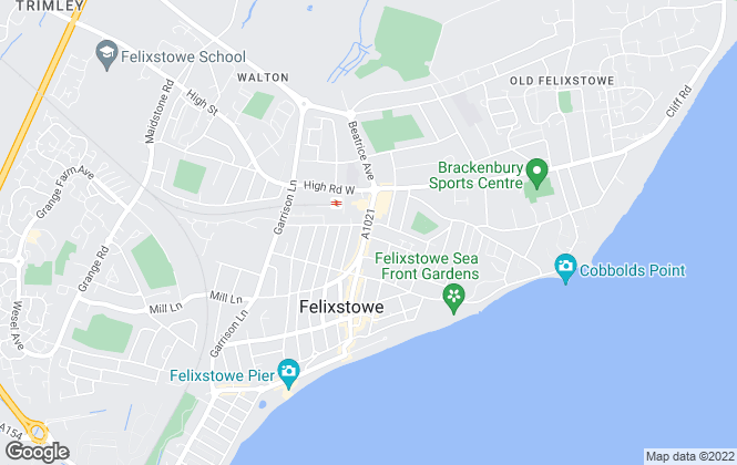 Map for Wainwrights Estate & Letting Agents, Felixstowe