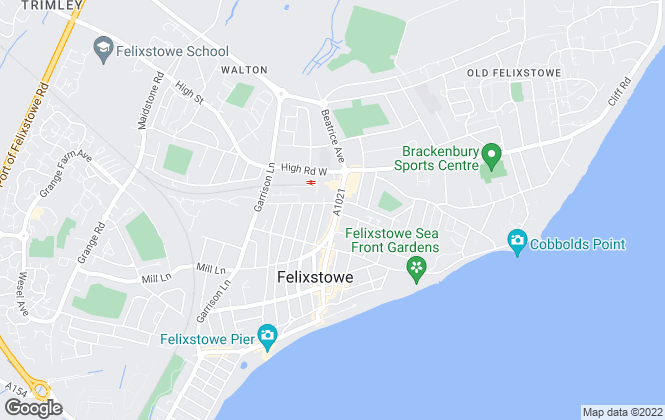 Map for Nicholas Estates, Felixstowe