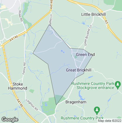 Map of property in Great Brickhill