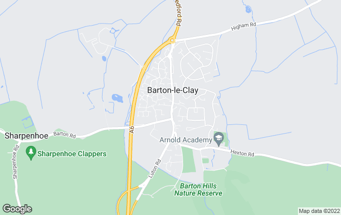 Map for Country Properties, Barton-Le-Clay  (Sales and Lettings)