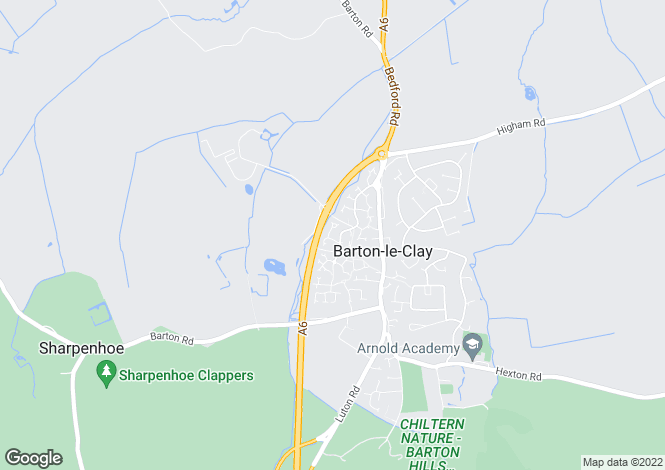 Map for Fisher Close, Barton-le-Clay, Bedfordshire, MK45 4NF