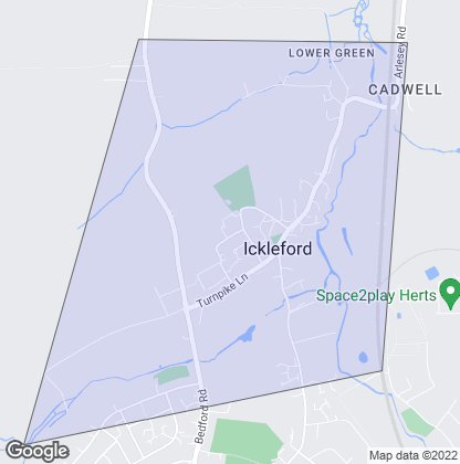 Map of property in Ickleford