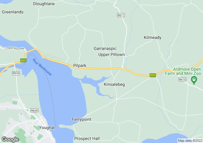 Map for Kinsalebeg, Waterford