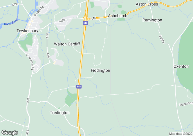 Map for Fiddington, Tewkesbury