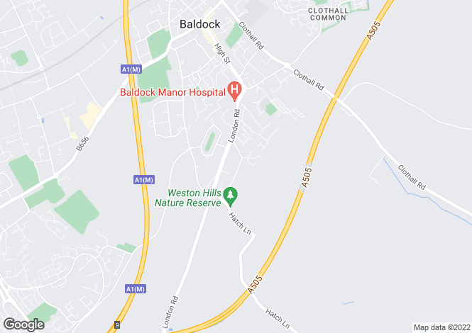 Map for Chiltern Road  Baldock  Hertfordshire