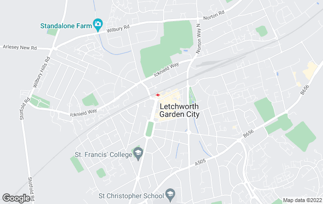 Map for Satchells Estate Agents, Letchworth
