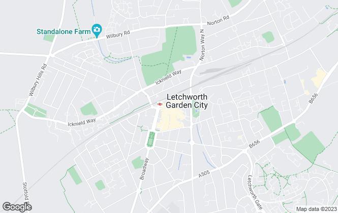 Map for Lane & Bennetts, Letchworth