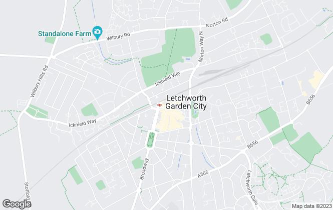 Map for Abbott Property Management Ltd, Letchworth Garden City