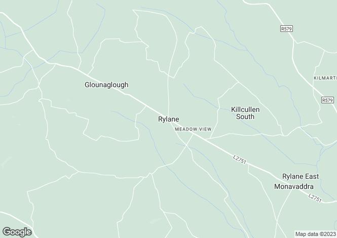 Map for Oughteery, Rylane, Co. Cork, Rylane, Cork