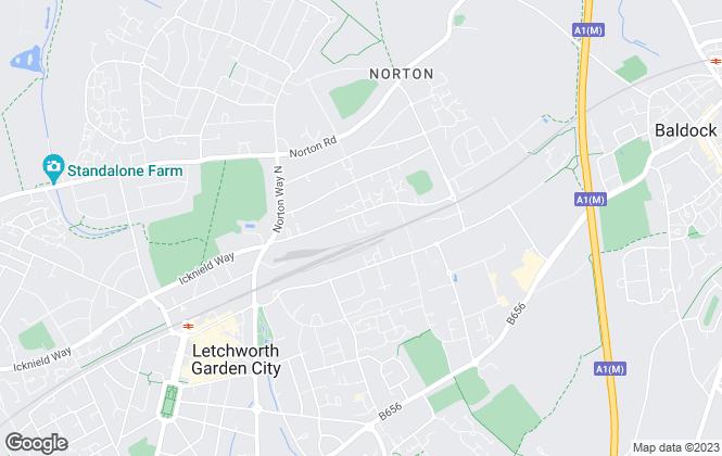 Map for Deenside Management Ltd, Hertfordshire