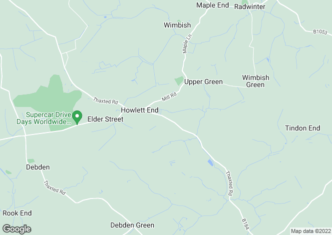 Map for The Lodge Howlett End, Wimbish, Saffron Walden, CB10