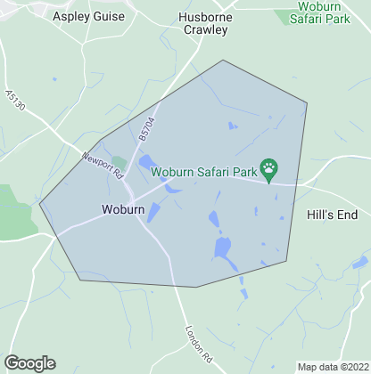 Map of property in Woburn