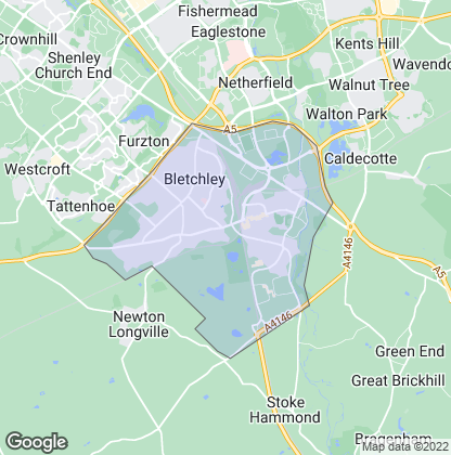 Map of property in Bletchley