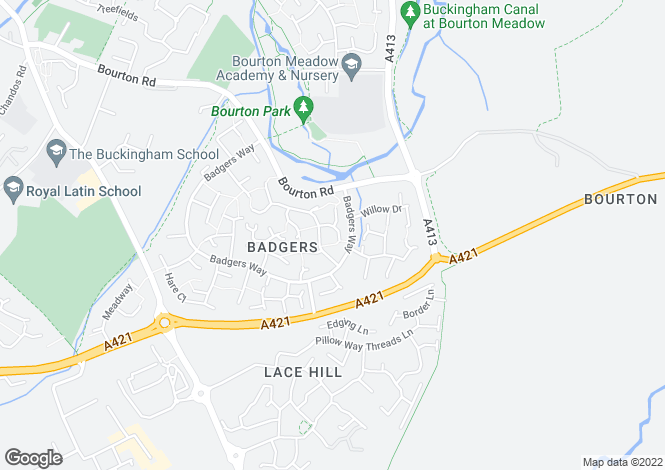 Map for Buckingham