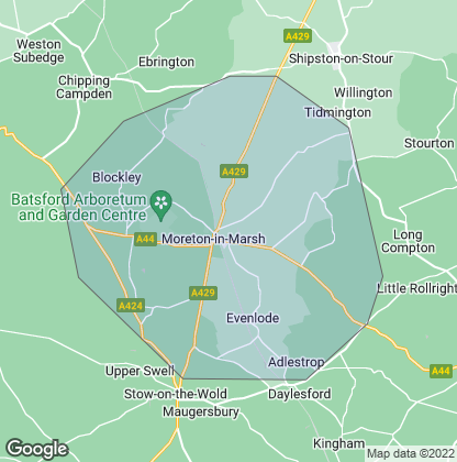 Map of property in Moreton-In-Marsh